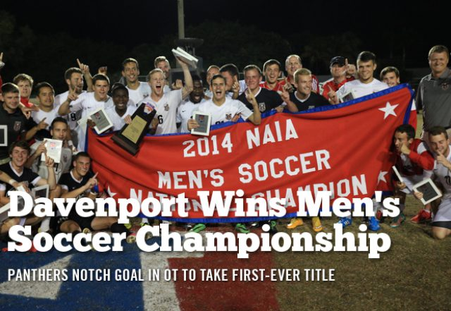 Davenport Beat Texas at Brownsville, Wins NAIA Men's Soccer