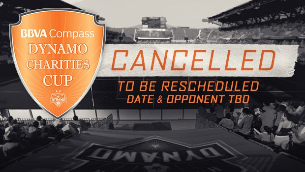 Houston Dynamo v Manchester City Cancelled