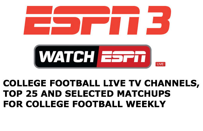 espn ncaaf stats college football tv schedule for today