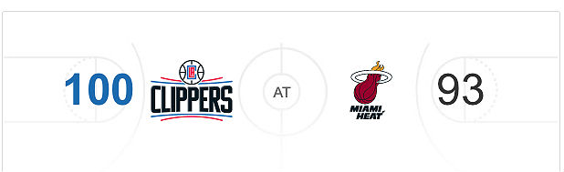 LA Clippers v Miami Heat NBA Score