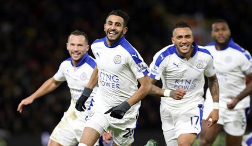 Riyadh Mahrez of Leicester in the Premier League
