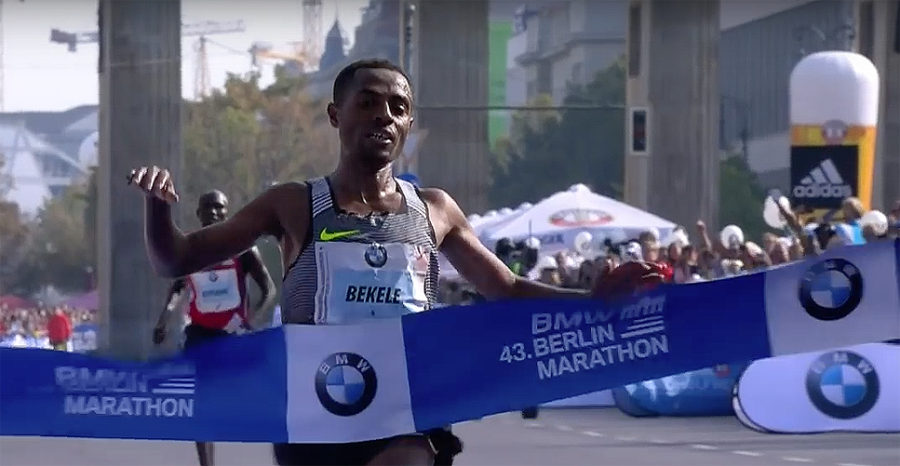 Kenenisa Bekele at Berlin Marathon