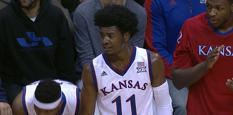 Josh Jackson of the Kansas Jayhawks