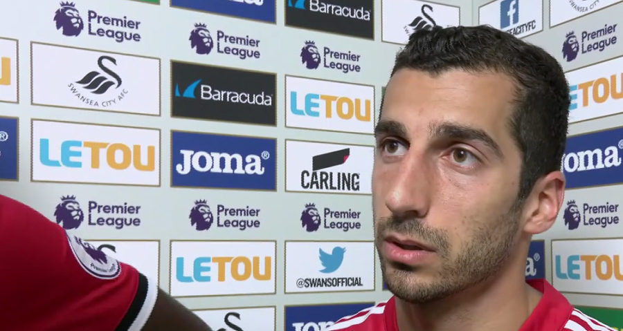 Henrikh Mkhitaryan - Manchester United doing Interview