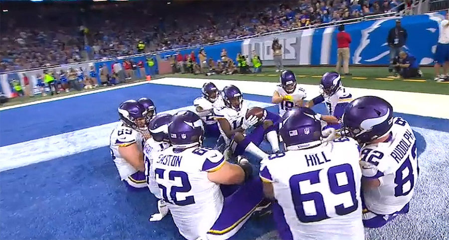 Minnesota Vikings on Thanksgiving Day TD