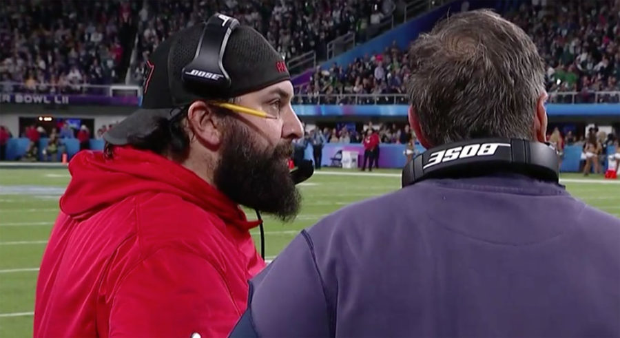 Matt Patricia and Bill Belichick Patriots