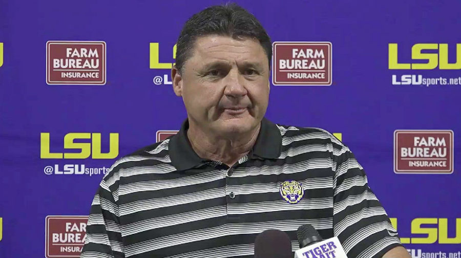 Ed Orgeron LSU Press Conference
